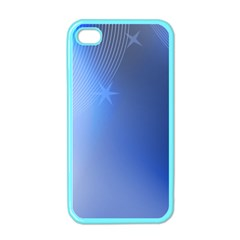 Blue Star Background Apple Iphone 4 Case (color)