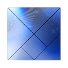 Blue Star Background Acrylic Tangram Puzzle (6  X 6 )
