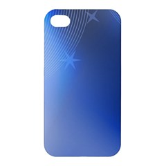 Blue Star Background Apple Iphone 4/4s Premium Hardshell Case