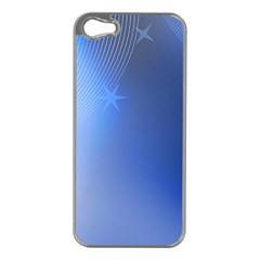 Blue Star Background Apple Iphone 5 Case (silver)