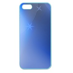 Blue Star Background Apple Seamless Iphone 5 Case (color)