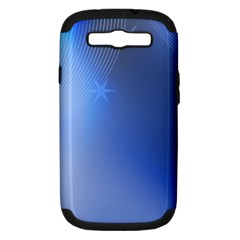 Blue Star Background Samsung Galaxy S Iii Hardshell Case (pc+silicone)