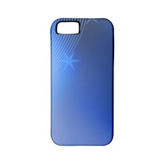Blue Star Background Apple Iphone 5 Classic Hardshell Case (pc+silicone)