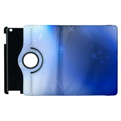 Blue Star Background Apple Ipad 2 Flip 360 Case