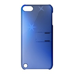 Blue Star Background Apple Ipod Touch 5 Hardshell Case With Stand