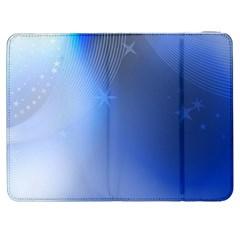 Blue Star Background Samsung Galaxy Tab 7  P1000 Flip Case