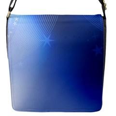 Blue Star Background Flap Messenger Bag (s)