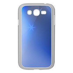 Blue Star Background Samsung Galaxy Grand Duos I9082 Case (white)