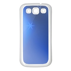 Blue Star Background Samsung Galaxy S3 Back Case (white)