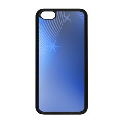 Blue Star Background Apple Iphone 5c Seamless Case (black)
