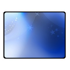 Blue Star Background Double Sided Fleece Blanket (small)