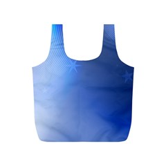 Blue Star Background Full Print Recycle Bags (s)