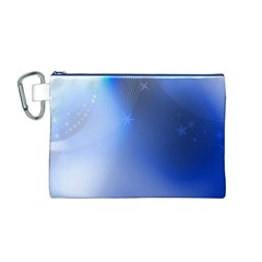 Blue Star Background Canvas Cosmetic Bag (m)