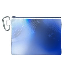 Blue Star Background Canvas Cosmetic Bag (l)