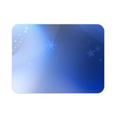 Blue Star Background Double Sided Flano Blanket (mini)
