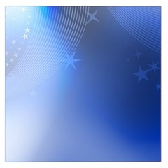 Blue Star Background Large Satin Scarf (Square)