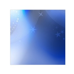 Blue Star Background Small Satin Scarf (square)