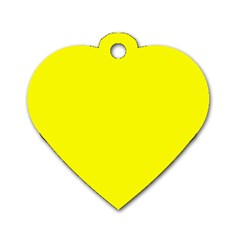 Yellow Color Dog Tag Heart (one Side)