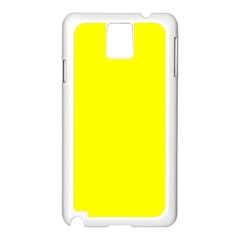 Yellow Color Samsung Galaxy Note 3 N9005 Case (white)
