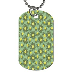 Another Supporting Tulip Flower Floral Yellow Gray Green Dog Tag (one Side)