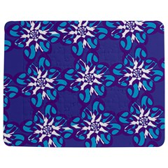 Analogous Blue Flower Jigsaw Puzzle Photo Stand (Rectangular)
