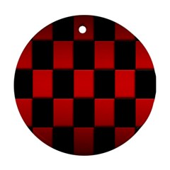 Board Red Black Round Ornament (two Sides)