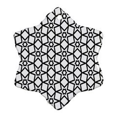 Coloring Squares Star Snowflake Ornament (two Sides)