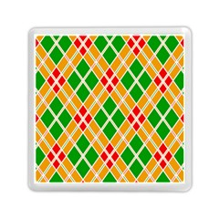 Chevron Wave Green Red Orange Line Memory Card Reader (square)