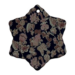 Fabrics Floral Snowflake Ornament (two Sides)