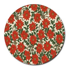 Flower Round Mousepads