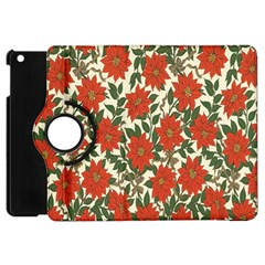Flower Apple Ipad Mini Flip 360 Case