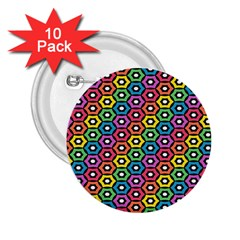 Geometric Pattern Single Page 2 25  Buttons (10 Pack)