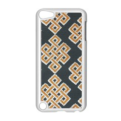 Geometric Cut Velvet Drapery Upholstery Fabric Apple Ipod Touch 5 Case (white)