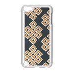 Geometric Cut Velvet Drapery Upholstery Fabric Apple iPod Touch 5 Case (White) Front