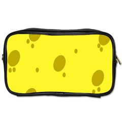 Hole Cheese Yellow Toiletries Bags