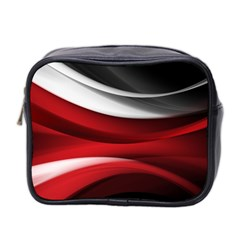 Lines Red Mini Toiletries Bag 2 Side
