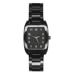 Linen Solid Fabric Stainless Steel Barrel Watch