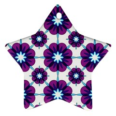 Link Scheme Analogous Purple Flower Ornament (star)