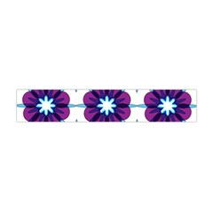 Link Scheme Analogous Purple Flower Flano Scarf (Mini)