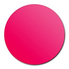 Pink Color Round Mousepads