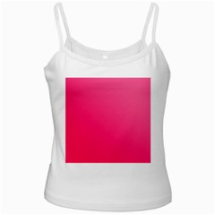 Pink Color White Spaghetti Tank