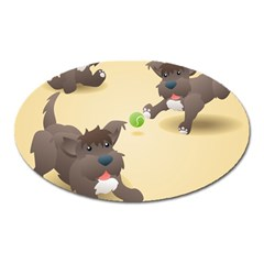 Puppy Dog Oval Magnet