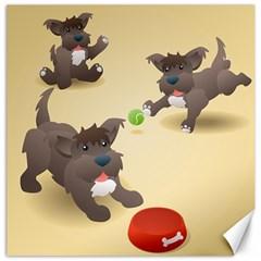 Puppy Dog Canvas 20  X 20