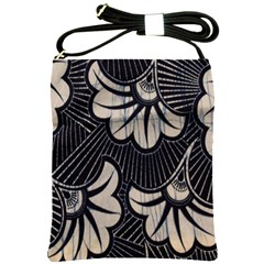 Printed Fan Fabric Shoulder Sling Bags
