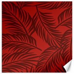 Red Palm Canvas 20  X 20