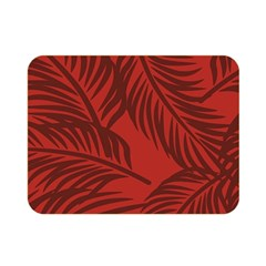 Red Palm Double Sided Flano Blanket (mini)