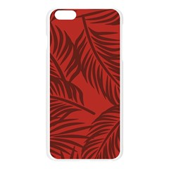 Red Palm Apple Seamless iPhone 6 Plus/6S Plus Case (Transparent)