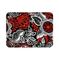 Red Batik Flower Double Sided Flano Blanket (mini)