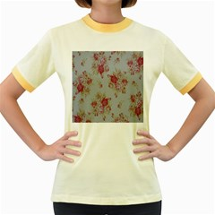 Rose Women s Fitted Ringer T Shirts