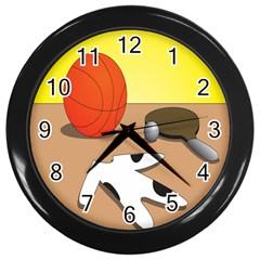 Sport Wall Clocks (black)